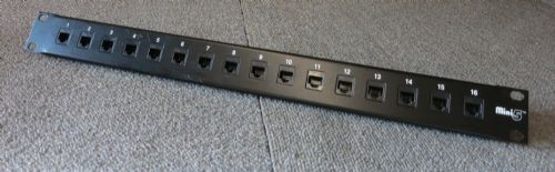 Mini5 24 port 1U Rack-Mount Cat5e Feedthrough Patch Panel RJ45 Ethernet